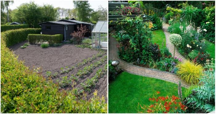 Обустройством внутреннего пространства двора каждый владелец занимался на свое усмотрение.