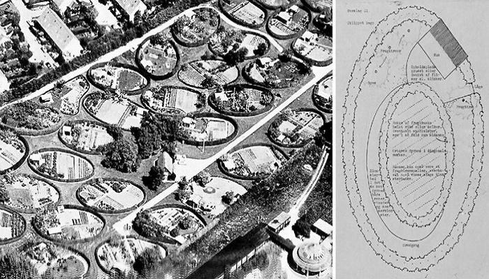 Так выглядели «Овальные сады» в 1952 г. (Копенгаген, Дания). | Фото: travelask.ru.