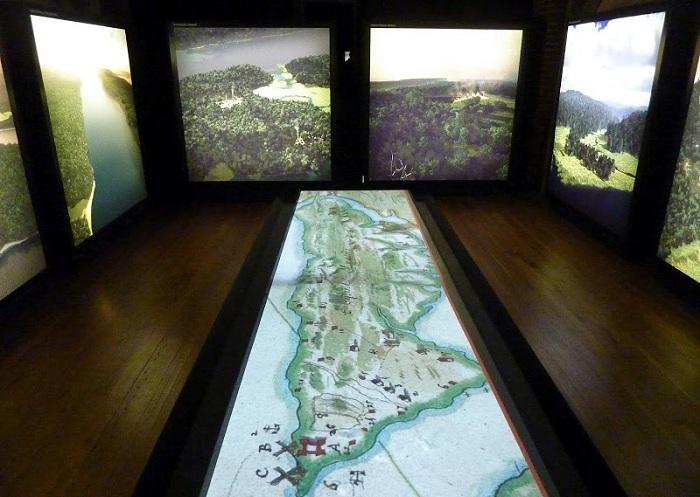 Главным экспонатом стала 3D-модель острова и проецируемая карта, созданная Сандерсом.