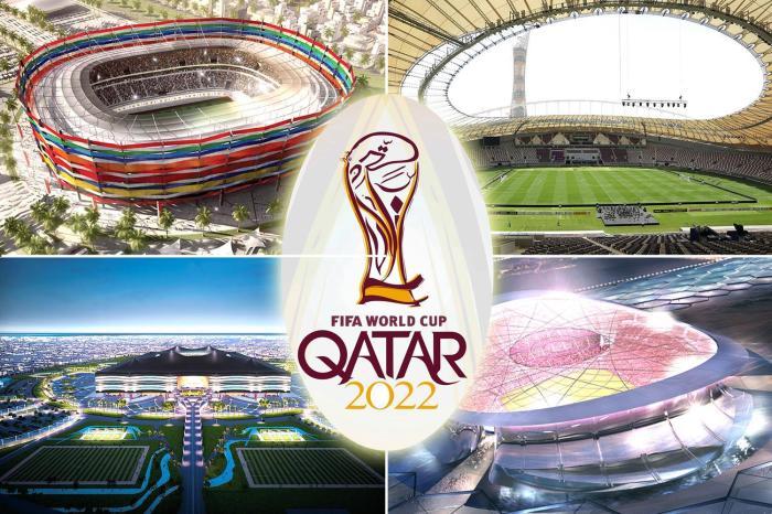 Эмблема предстоящего Чемпионата мира по футболу 2022 (Катар). | Фото: foxsportsasia.com.