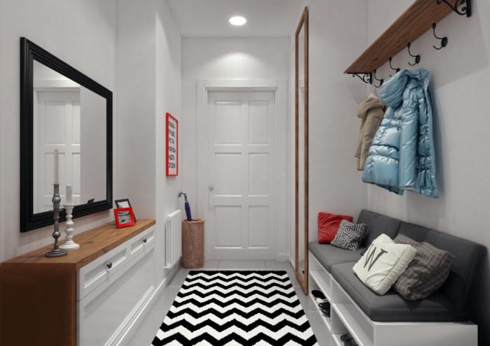 Даже дорожка с правильным рисунком поможет создать иллюзию большего пространства. | Фото: geometrium.com.