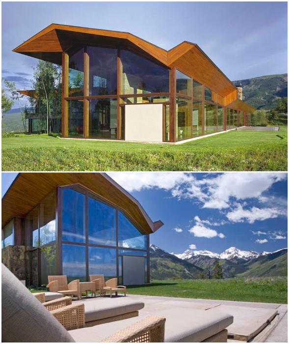 Футуристический особняк Романа Абрамовича в горах Колорадо (Wildcat Ridge, США).