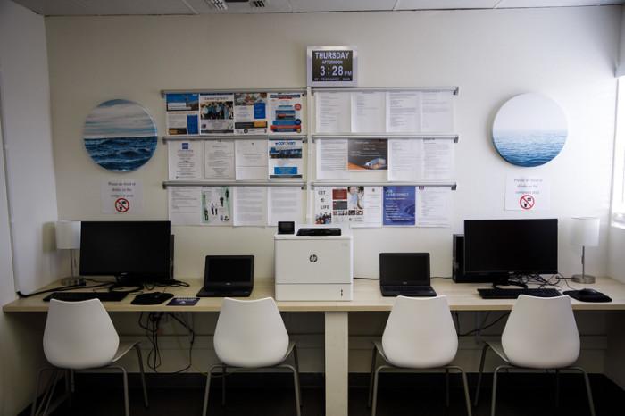 В комплексе есть полностью оборудованный компьютерный зал («Bridge Housing Community», США). | Фото: bangphotos.smugmug.com.
