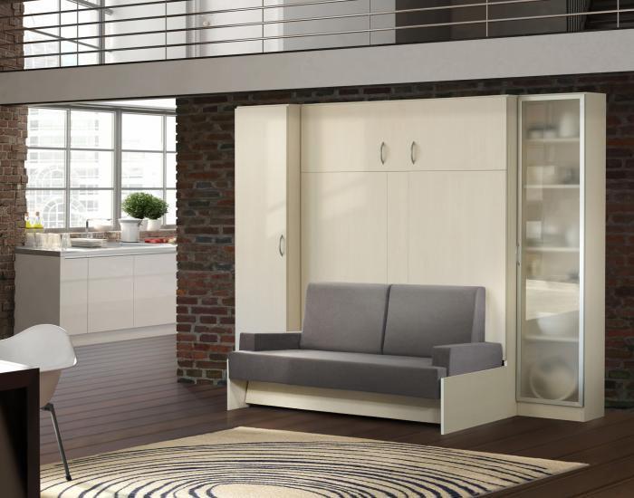 Стенка-трансформер для современной квартиры-студии.