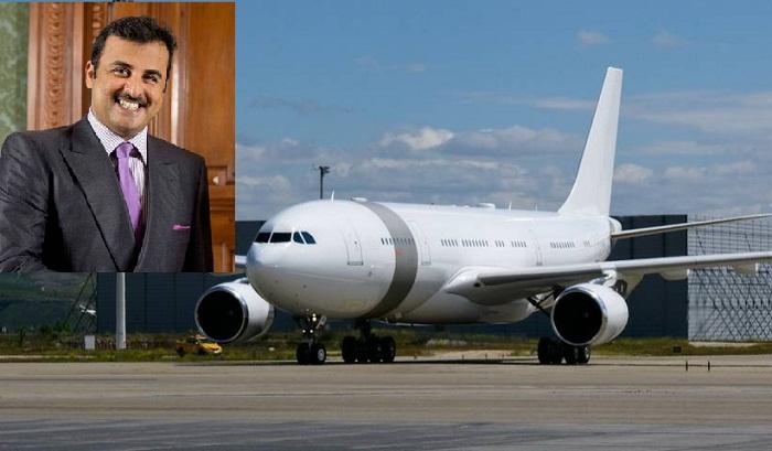 Монарх Катара Тамим бин Хамада Аль Тани и один из самолетов его авиа парка.