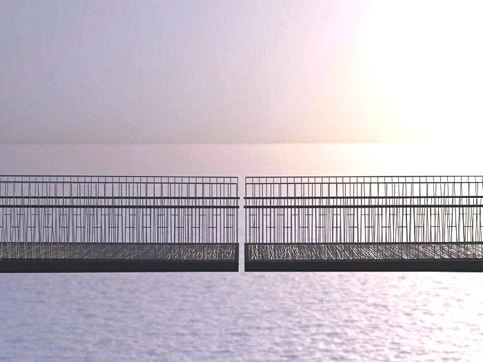 Открытый просвет посреди моста стал дополнительным экстремальным развлечением для пешеходов (Cornwall, Великобритания). | Фото: newatlas.com.