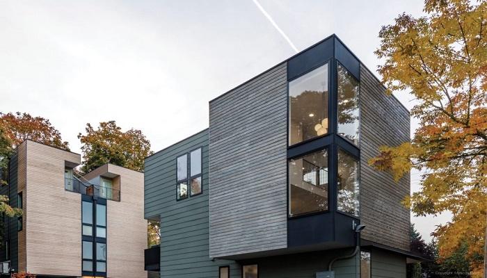 Tsuga Townhomes признан лучшим социальным проектом в строительстве многосемейных домов (Сиэтл, США).   Фото: residentialdesignmagazine.com.