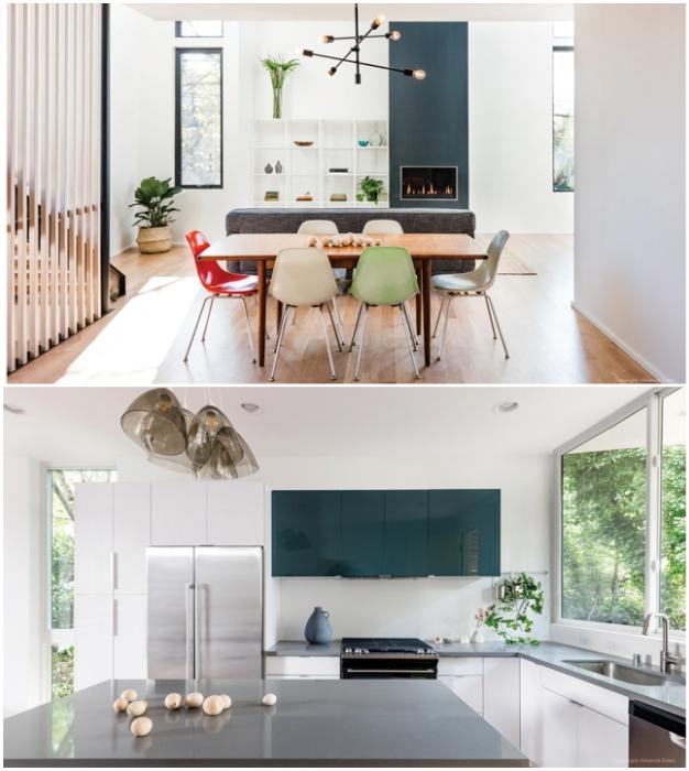 Свободная планировка и окна от пола до потолка позволили создать достойное современное жилье по демократичной цене (Tsuga Townhomes, Сиэтл).