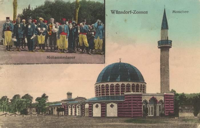 Открытки и фотографии выдавались всем завербованным военнопленным мусульманам (Вюнсдорф, Германия). | Фото: waltergutjahr.wordpress.com.
