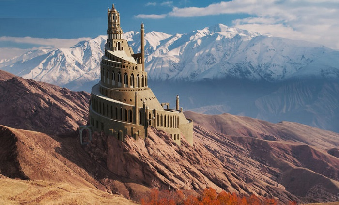 С помощью 3D-рендеринга группе специалистов удалось восстановить внешний вид Alamut Castle (современный Иран). | Фото: viagens.sapo.pt.
