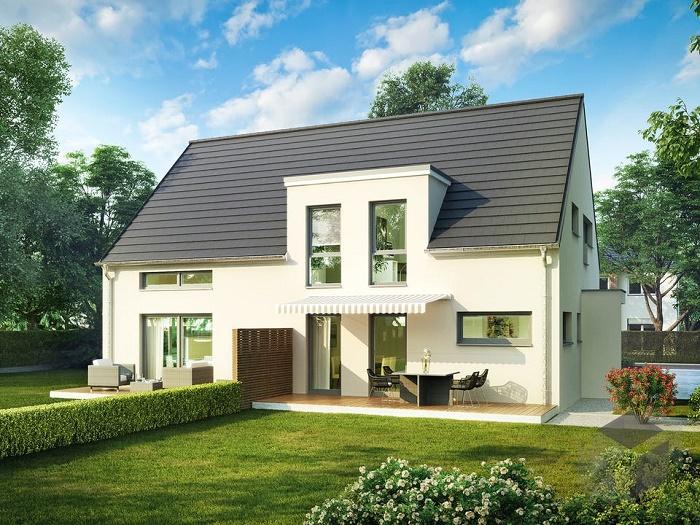 Яркий пример дома на две семьи, в котором проживают близкие родственники. | Фото: dieckmann-immobilien.de.