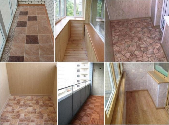 Варианты напольного покрытия на балконе/лоджии. | Фото: buduy.com.ua.
