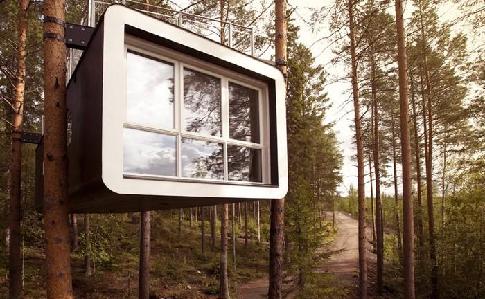 Cabin – один из номеров гостиничного комплекса Treehotel (Швеция). | Фото: realt.by.