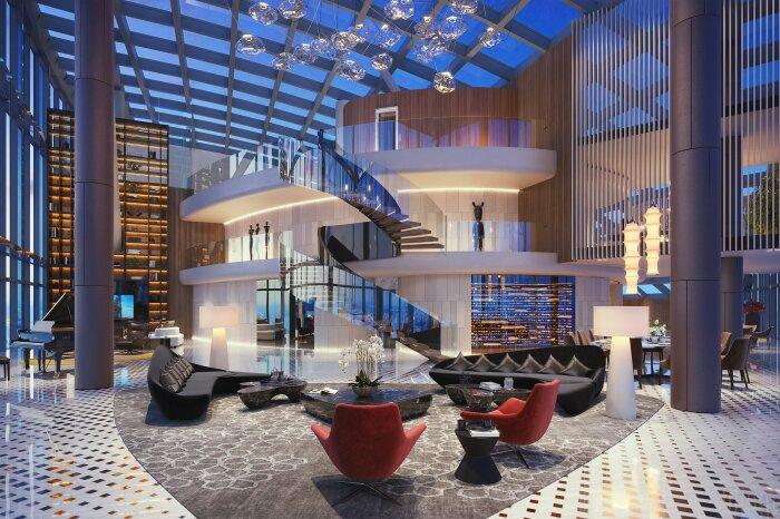 Площадь самой большой квартиры составляет 2,2 тыс. кв. м («Платиновые апартаменты», Москва). | Фото: башняфедерация.рф.