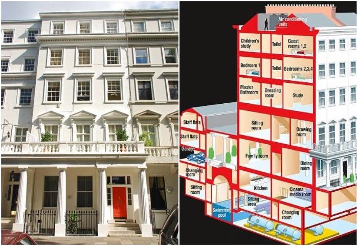 Особняк в жилом комплексе Lowndes Squre (Лондон, Великобритания).