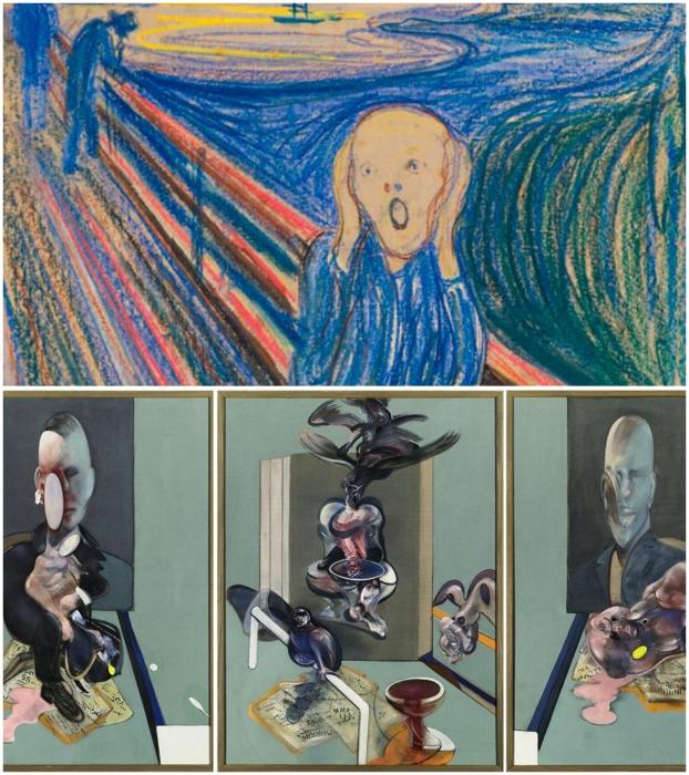 В коллекции Романа Абрамовича можно увидеть «Крик» Эдварда Мунка и «Триптих» Фрэнсиса Бэкона.