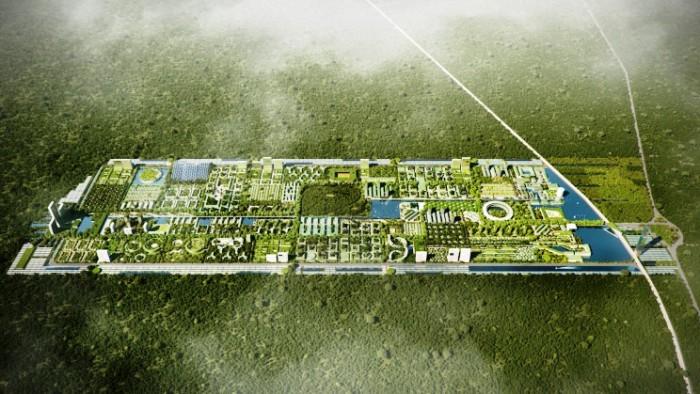 Вид с высоты птичьего полета на Smart Forest City (проект Stefano Boeri Architetti). | Фото: interestingengineering.com.
