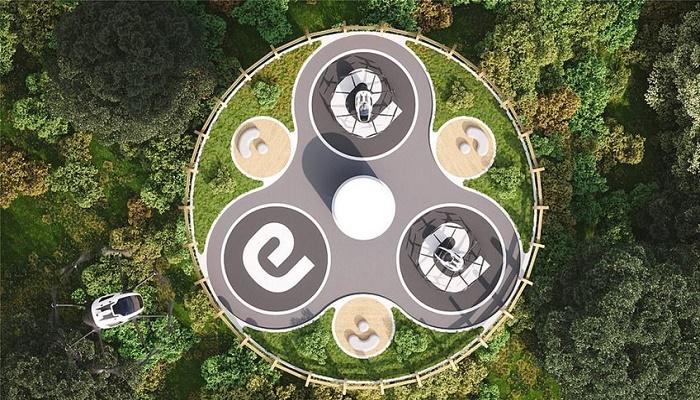На верхней площадке вертипорта планируют оформить зеленые зоны и посадочные площадки с бесконтактной подзарядкой аэротранспорта. | Фото: classlifestyle.com.