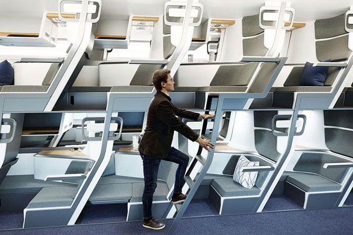 Скрытая лестница позволяет попасть на второй ярус. | Фото: boredpanda.com/ © Zephyr Aerospace.