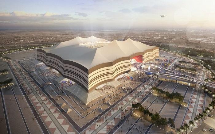 Так будет выглядеть стадион Al Bayt Stadium в городе Аль-Хори (Катар ЧМ-2022, проект архбюро Dar Al-Handasah). | Фото: uploaddeimagens.com.br.