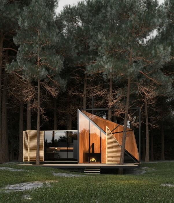 Amber house предлагает комфорт и отдых любителям отдыха на лоне природы. | Фото: siaarchitecture.fr.
