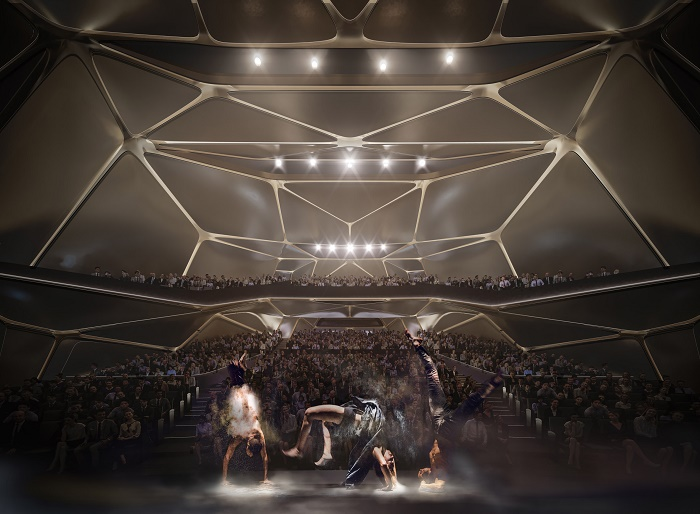Театр рассчитан на 1200 зрителей (визуализация Zhuhai Jinwan Civic Art). | Фото: newspaperdailyph.blogspot.com.