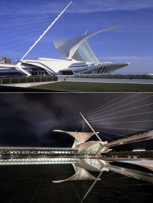 Эффектный Quadracci Pavilion от Сантьяго Калатравы стал визитной карточкой Милуоки (Висконсин, США).
