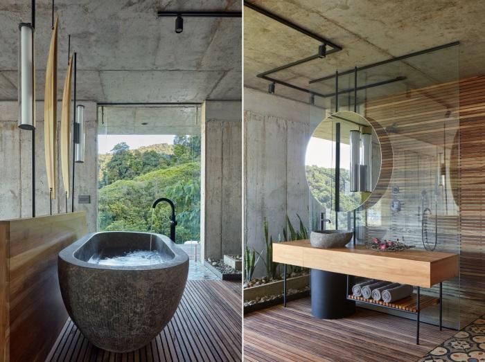 Ванные комнаты удивят даже самых привередливых постояльцев (Art Villa, Коста-Рика).