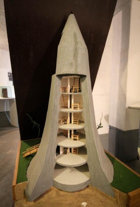 Макет бомбоубежища названного в честь создателя «башней Винкеля» (Вюнсдорф, Германия). | Фото: magspace.ru.