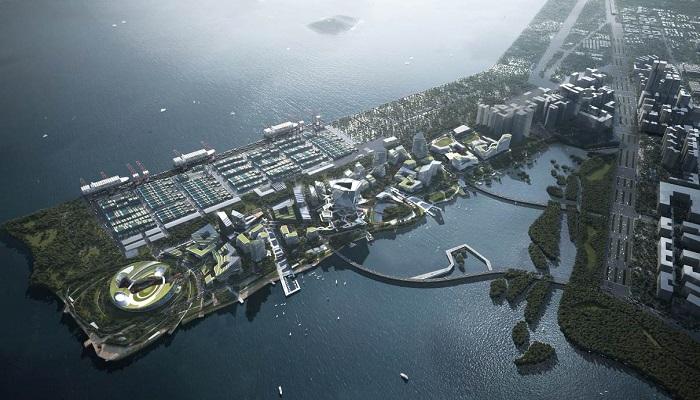 Конгломерат Tencent для строительства своего города выкупил непригодный участок земли в заливе Дачань за 1,2 млрд дол. | Фото: eyeshenzhen.com/ © NBBJ.