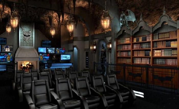 Атмосферная обстановка и роскошная мебель сделает просмотр фильмов незабываемым (Dark Knight: Rises, Канада). | Фото: Syfy.com.