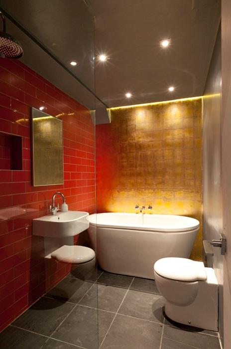 Эффектная ванная комната.