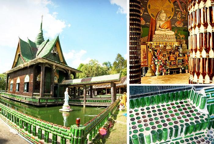 Буддистский храм миллиона бутылок Ват Лан Куад.