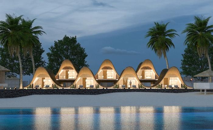 Концепт курорта Bihing Tahik Resort в провинции Тави-Тави (концепт DADA). | Фото: mymodernmet.com.