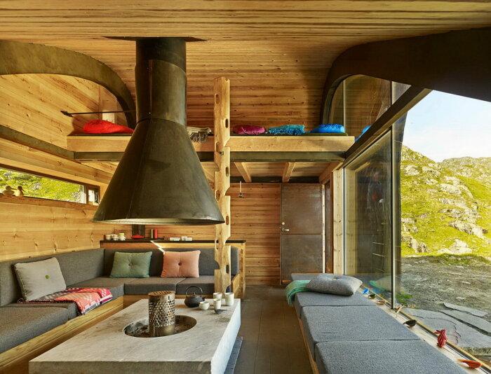Благодаря старанием архстудии Snohetta комфортный отдых обеспечен (Hunting Lodge, Норвегия). | Фото: homeworlddesign.com.