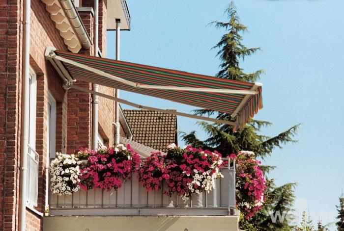 Оранжерейные маркизы спасут от жары не только вас, но и цветы на балконе.