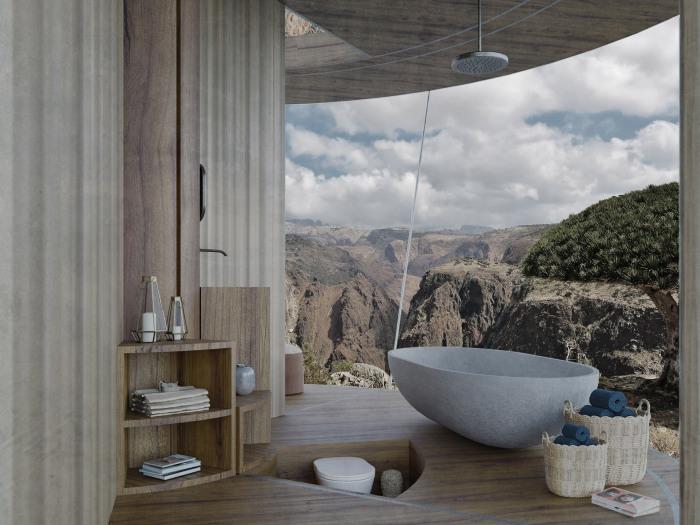 А вот туалет спрятали в «подполье» (концепт Casa Ojala').   Фото: acentraledellarte.org.