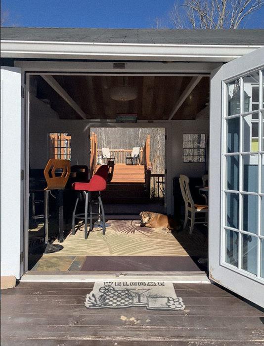 А вот четверолапый друг семьи волен выбирать домик по своему настроению. | Фото: desejoluxo.ig.com.br.