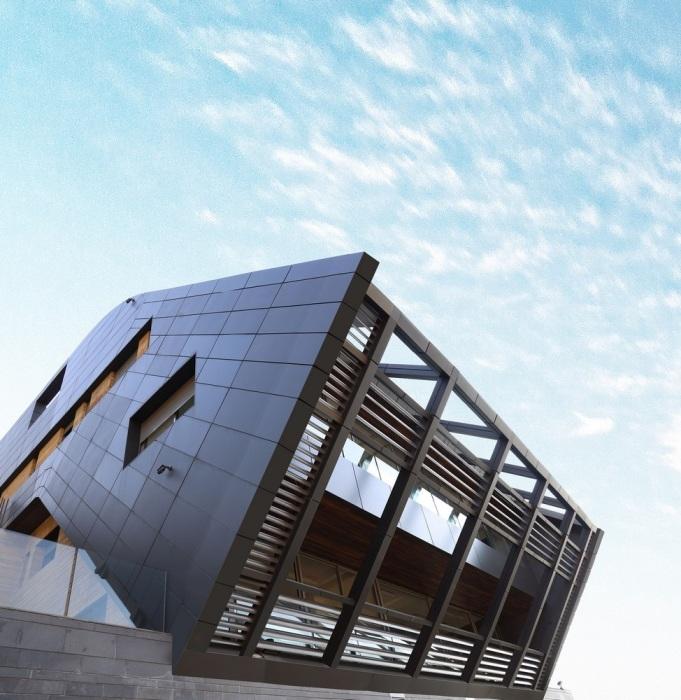 «Падающий» со скалы: ливанские архитекторы спроектировали роскошную виллу на краю утеса (CH730 Villa, Ливан).   Фото: e-architect.co.uk.