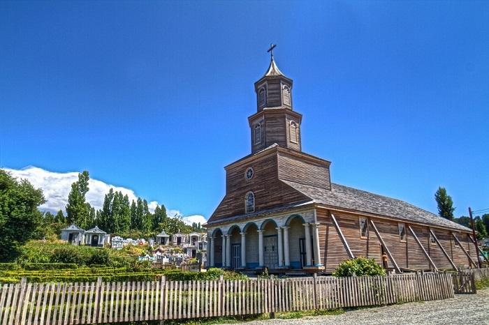 Церковь Неркон в Чилоэ.