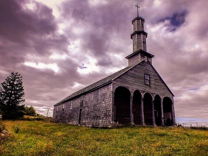 Церковь Вилупулли на острове Чилоэ.