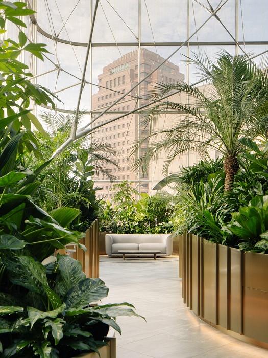 В Сингапуре банковский офис превратили в ботанический сад