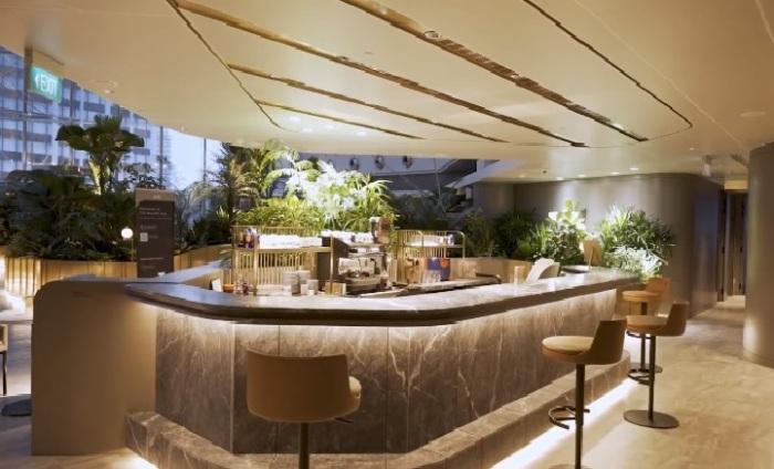 Гостиная с баром в зоне Citigold для особо важных клиентов (Citi Wealth Hub, Сингапур). | Фото: © Citi Singapore.