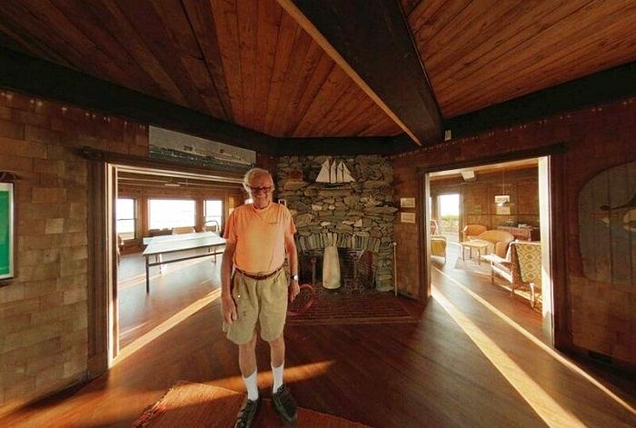 Генри Вуд - владелец Clingstone House (Залив Наррагансетт, США). | Фото: bigpicture.ru.