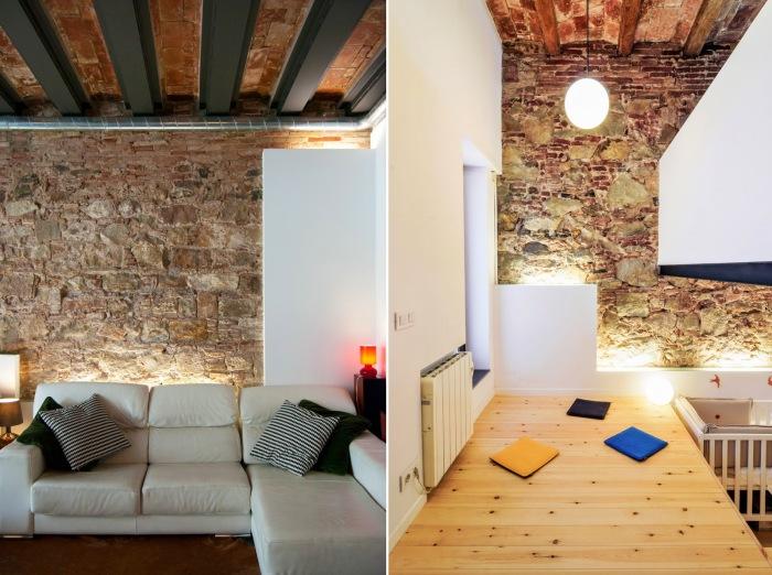 Зона отдыха в здании бывшей химчистки (проект Carles Enrich). | Фото: arquitecturazonacero.blogspot.com.