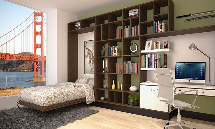 Очень удобная модель стенки-трансформера для детской комнаты.