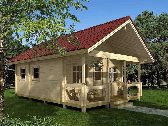 Деревянный летний домик с большой крытой террасой (Allwood Timberline). | Фото: apartmenttherapy.com.