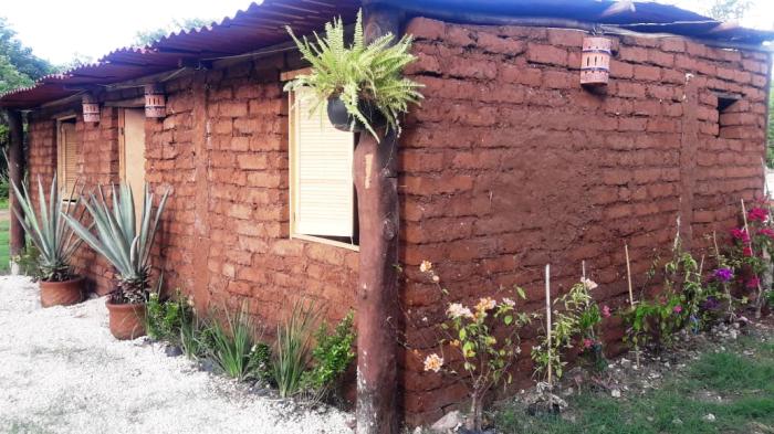 Дом, сделанный из самана с саргассом, особой красотой не отличается, но экономичен и практичен (Кинтана-Роо, Мексика). | Фото: elfinanciero.com.mx.