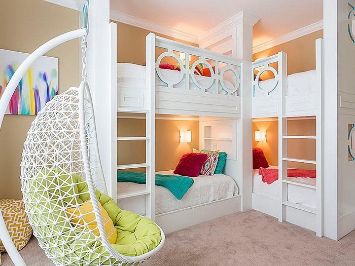 Как сэкономить место при расположении кроватей.