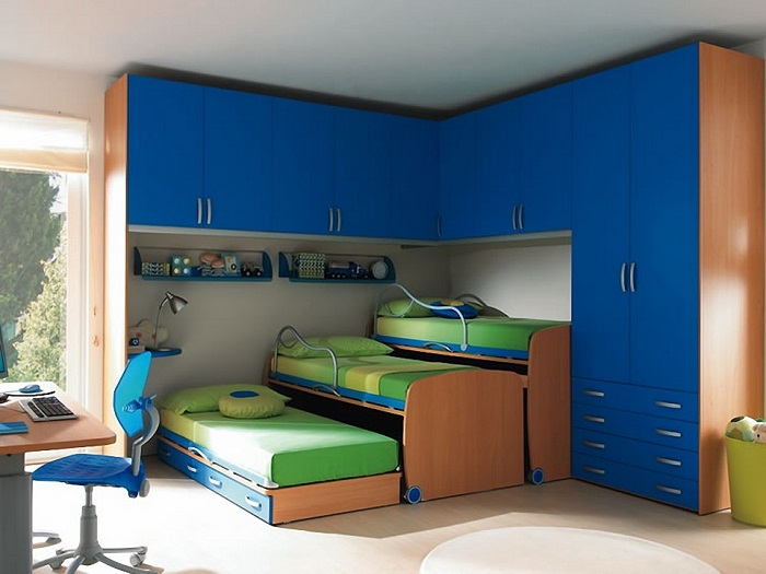 Выдвижные системы кроватей в интерьере.